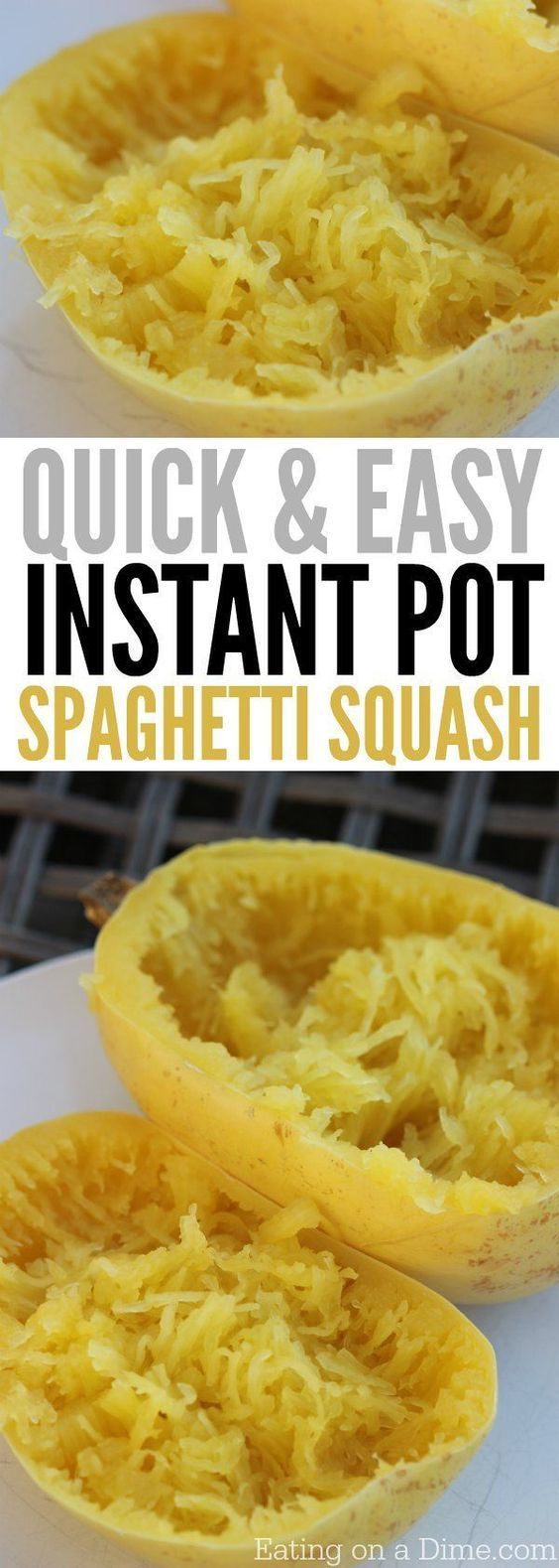 You are going to love this quick and easy Instant Pot Spaghetti Squash Recipe. How to make Spaghetti squash in minutes in the electric pressure cooker.