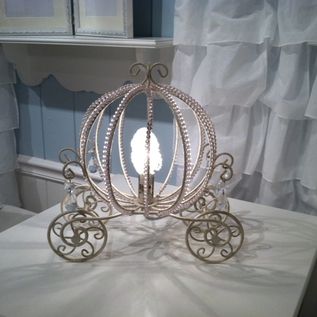 Pink and Gold Princess Carriage light! LOVE Potter Barn Kids