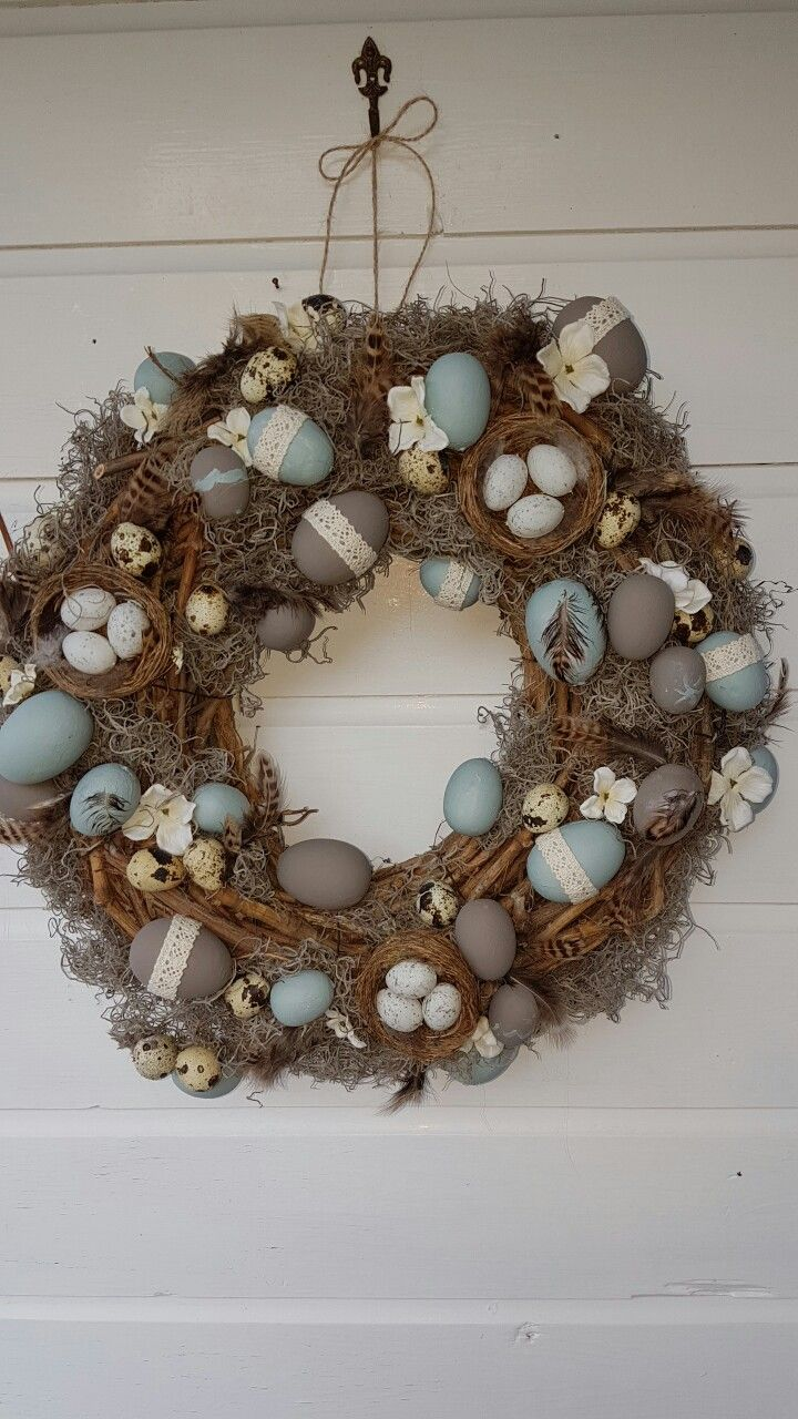 Easter wreath made by Joke van Loo