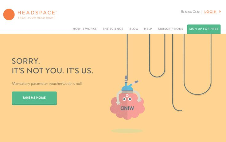 Sorry. It's not you. It's us. #404error on Headspace