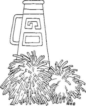 Best 25 cheerleading decorations ideas on pinterest for Printable cheerleading coloring pages