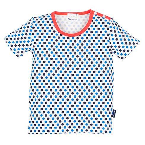 Organic T-Shirt Navy Blue Dots by Lasticot