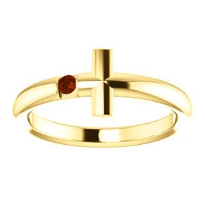 NEW! Mozambique Garnet Sideways Cross Ring to celebrate January Birthdays. Click through for product details OR to locate a jeweler near you.