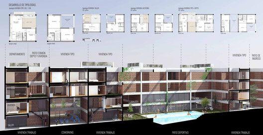 Conoce a los ganadores del concurso latinoamericano 'Pensar la vivienda, vivir la ciudad',Tercer lugar / código E0269. Image Cortesía de Organizadores
