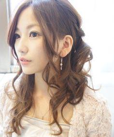 パーティにもOK☆華やかシニヨン風コンサバ女子のヘアスタイル♬真似したいカット・アレンジ・髪型♬