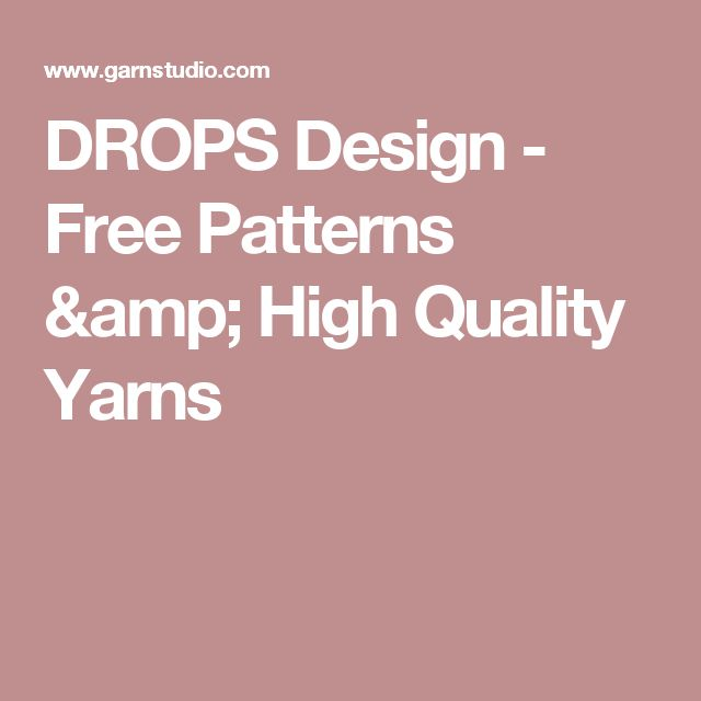 DROPS Design - Free Patterns & High Quality Yarns