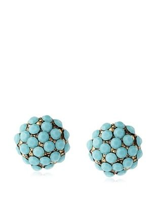 49% OFF Yochi Turquoise Stone Burst Earrings