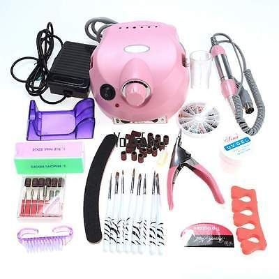 Professional Electric Nail File Drill Manicure Tool Pedicure Machine Set Kit New