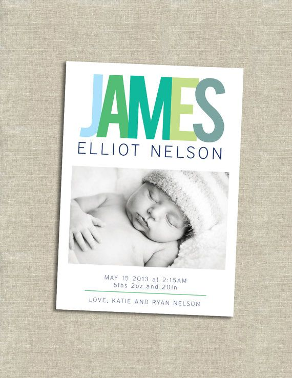 Best 25 Boy birth announcements ideas – Baby Announcement Cards Etsy