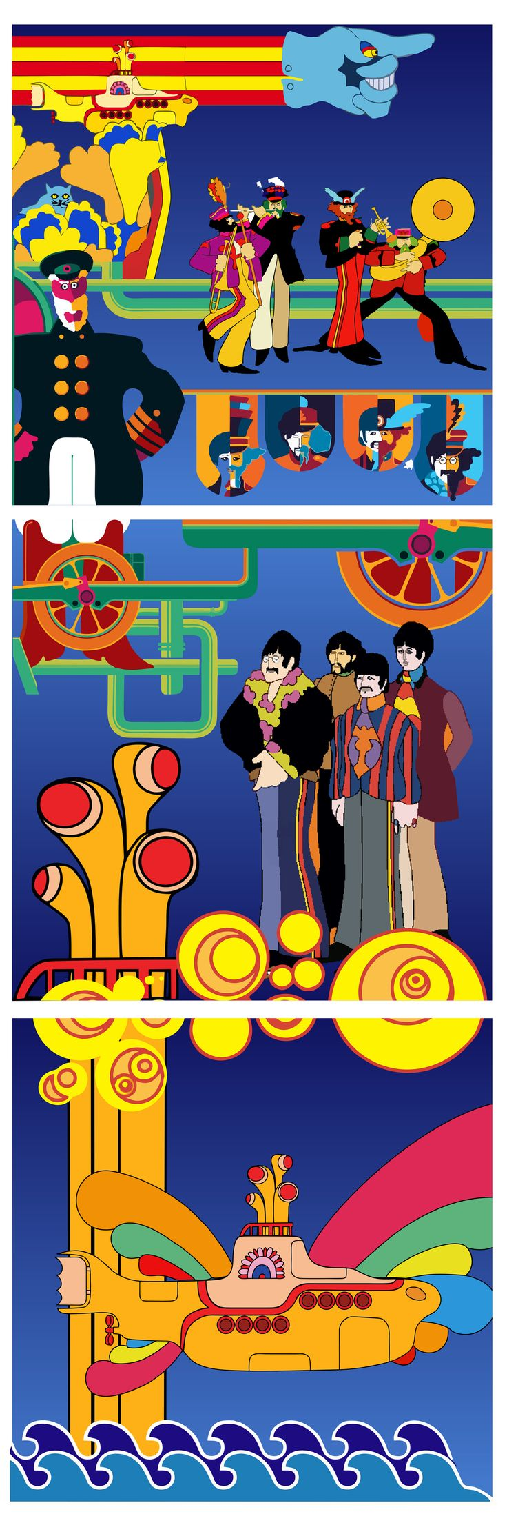 Image result for yellow submarine doodle