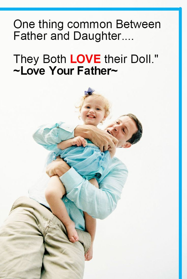 e thing mon Between Father and Daughter They Both LOVE their Doll