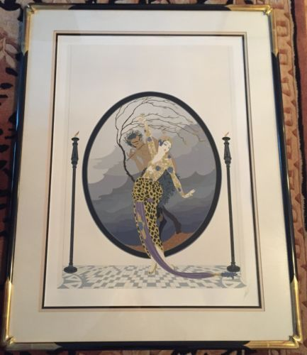 Authentic-Erte-Woman-Satyr-Limited-Edition-Signed-Serigraph