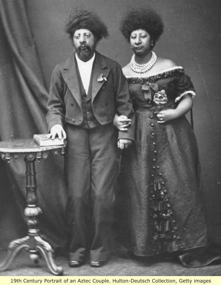 19th century Aztec couple. The last of the great MesoAmerican cultures were the Aztec, they were a Nahuatl-speaking people, who in the 15th and early 16th centuries, ruled a large empire in what is now central and southern Mexico. The Aztec are so-called from the word Aztlán.