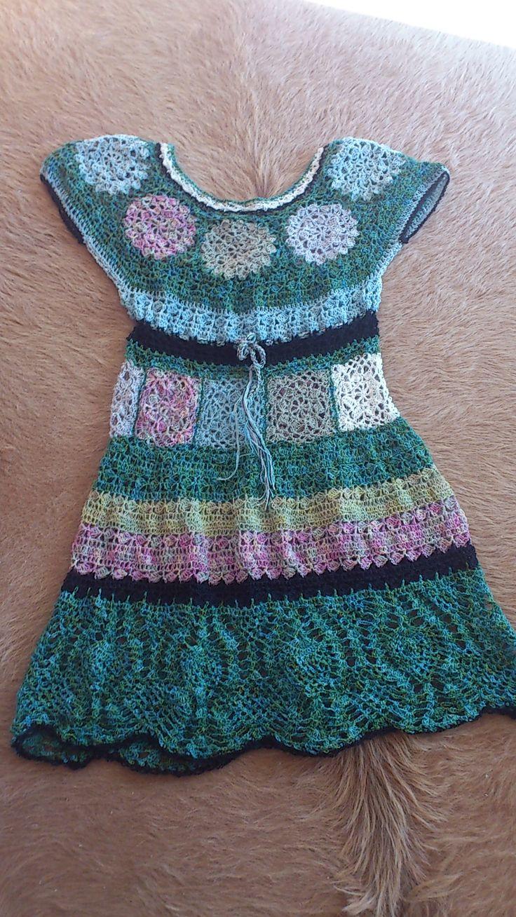 crochet lace dress finished