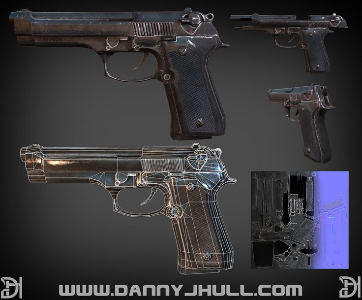 m9 handgun, Daniel Hull on ArtStation at https://www.artstation.com/artwork/m9-handgun