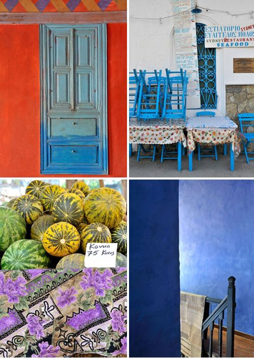 colors from the mediterranean