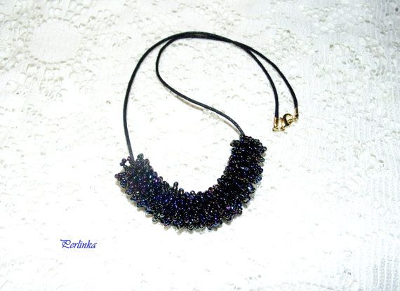 Necklace Pendant of beads SPACE. Collana di perline di BeadsWay