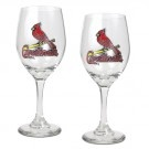 MLB SAINT LOUIS CARDINALS 2PC WINE GLASS SET