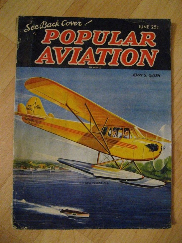 Popular Aviation Magazine - Vintage June 1937 Airplane Pilot Plane USA Magazine