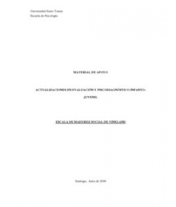 Escala Madurez Social Vineland