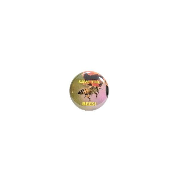 Button Pin Save The Bees! Endangered Honey Bee Awareness Backpack Pinback 1""