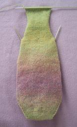 Toe-up gusseted heel sock