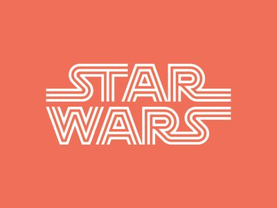 Star Wars typo lettering by Ty Wilkins project on dribbble.