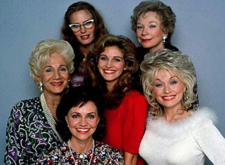 Steel Magnolias. Dolly Parton, Shirley MacLaine, Daryl Hannah, Olympia Dukakis, Julia Roberts, & Sally Field.