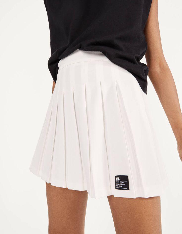 Falda Mini Plisada Ropa Bershka Espana In 2020 Minirok Plooirok Outfit Rok
