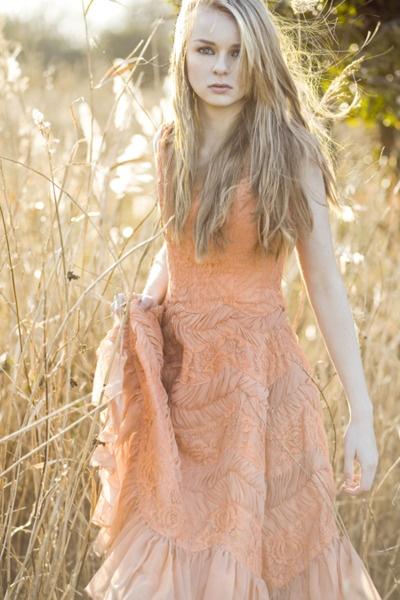 {just a walk through a field on a fine day in a fine dress}