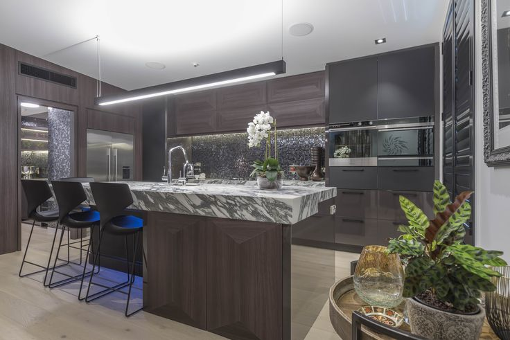 Navurban Blackheath | Beautiful Bevelled Panels Giving A 3D Effect To The  Overhead And Island Doors. The Walls Clad At The Entrance To The Scullery  And ...