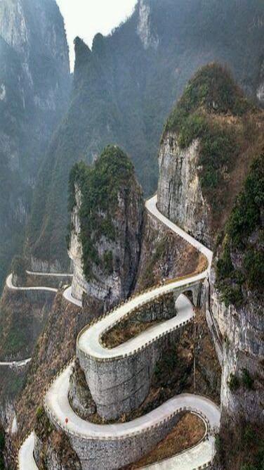 Parc national de la montagne Tianmen, Zhangjiajie, dans la partie nord-ouest de la province du Hunan, en Chine
