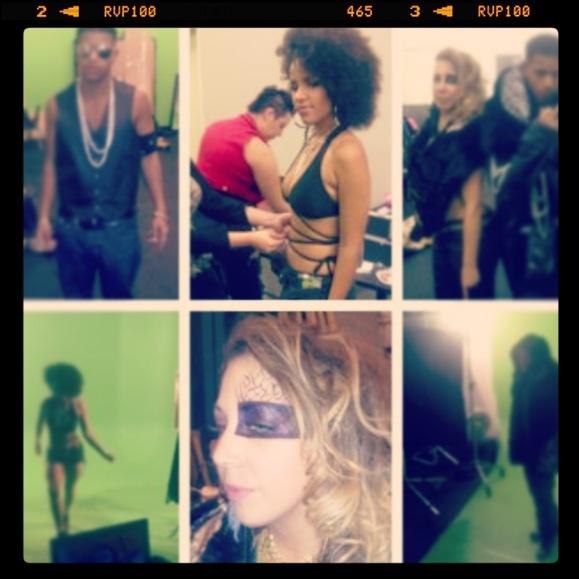 On set day 2 kaleb Simmonds video shoot