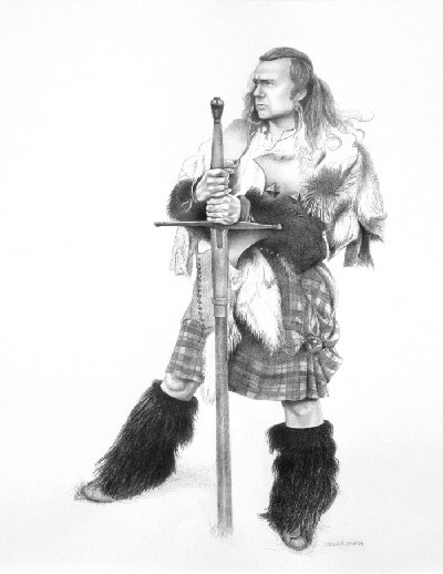 'William Wallace 2' (Adam Watters) c.2009, pencil on paper by Lorna Pirrie.