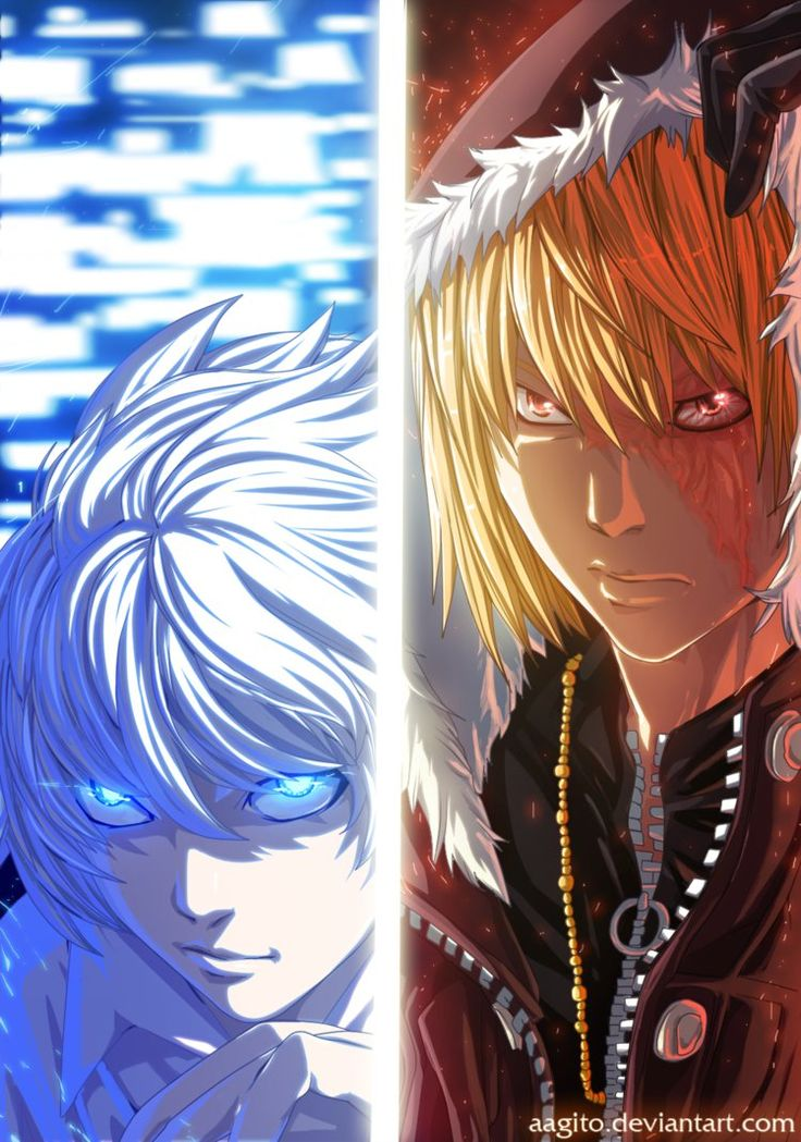 Near and Mello, L's successors. Cool guys...but still not as cool as L. Although, admittedly I was just a little bit in love with Mello...