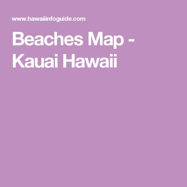 Big Island Beaches: Beaches Map - Kauai Hawaii