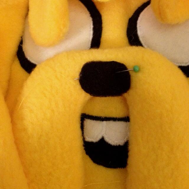 Plush Jake from Adventure Time  Work in progress