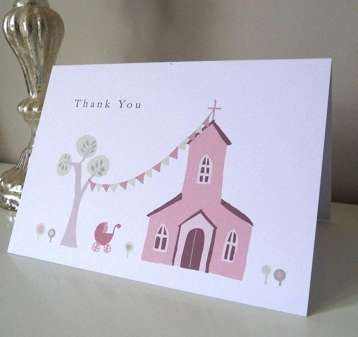 Personalised Christening Thank You Card