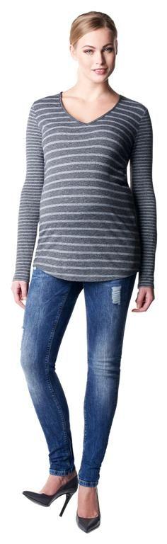 Camiseta de embarazo escote pico Britt [50523] - 49,95€ : Tienda premamá online. Moda prenatal para embarazadas y ropa interior para embarazo y lactancia., Demamis.com