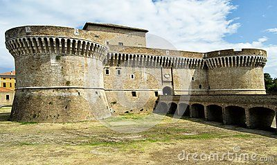 Fortress of Rocca Roveresca located in Senigallia in the Marche region in the province of Ancona. For travel and historical concep