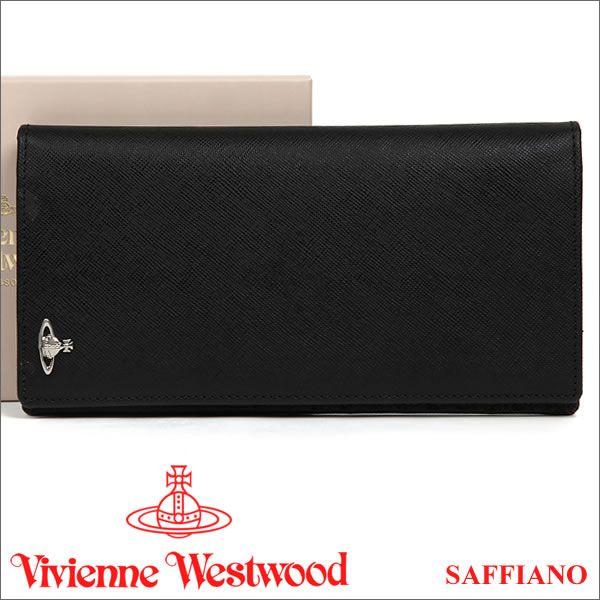 ヴィヴィアン 長財布 ヴィヴィアンウエストウッド 財布(小銭入れなし) ブラック Vivienne Westwood 33177 MAN SAFFIANO BLACK 【02P11Apr15】 【RCP】 【あす楽】:楽天