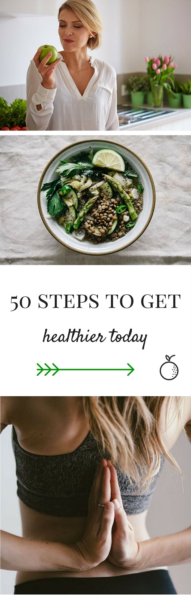 #health doesn't have to be complicated! Here are 50 ideas that make you healthier instantly :) From nutrition advice to moving around and caring about your inner game.