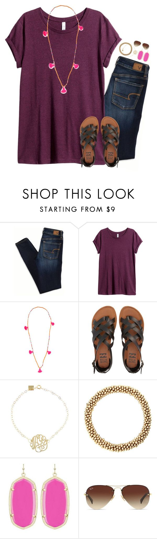"""""""Going to a big picnic with my family and friends☀️"""" by thedancersophie ❤ liked on Polyvore featuring American Eagle Outfitters, H&M, Lead, Billabong, Ginette NY, Meredith Frederick, Kendra Scott and Ray-Ban"""