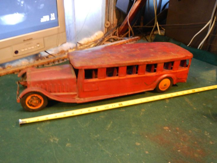 Vintage Cor-Cor Bus pressed steel Buddy L Steelcraft Keystone
