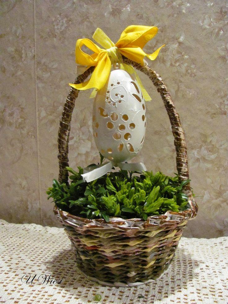 easter paper basket