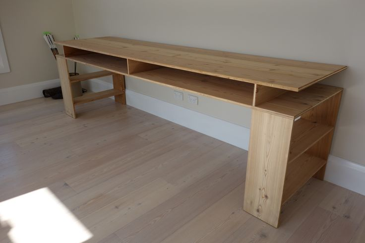 i built this table from a clients left over floor boards. Donald Judd inspired.