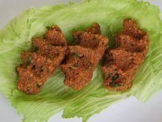 linzen köfte, vegan, met bulgur, maar kan ook vervangen worden door boekweit of quinoa