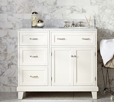 The Art Gallery Custom Classic Modular Asymmetric Single Sink Console Vanity style for Eli us bathroom