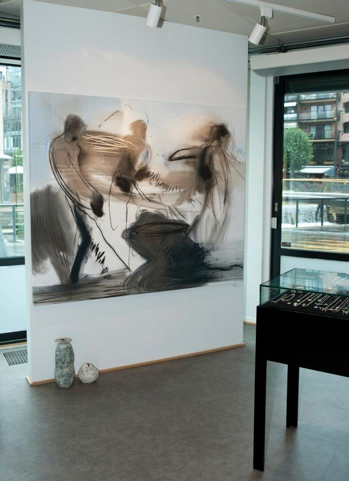"""""""Liv til strek"""" #Runi #Langum, 20. - 25. august 2012 #art #kunst #vernissage #utstilling"""