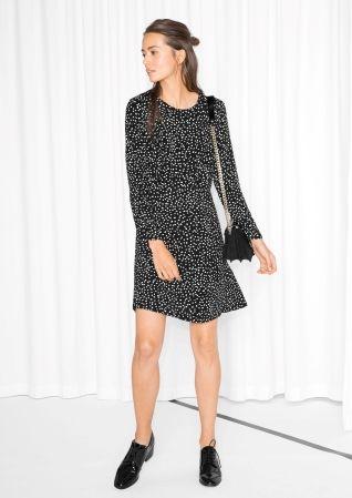 Dots Mini Dress - Black - & Other Stories